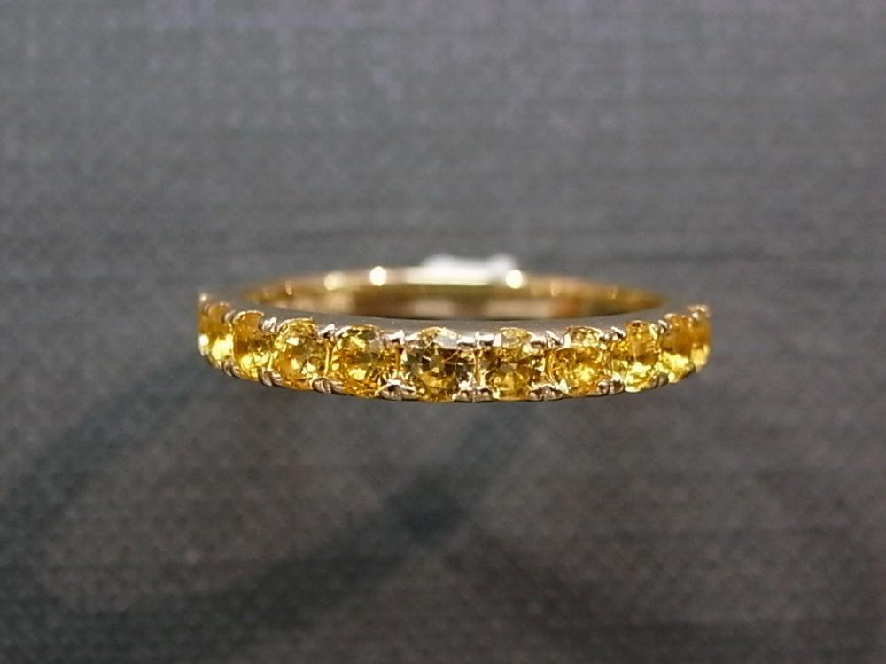 Yellow Sapphire Wedding Ring in 14K Yellow Gold