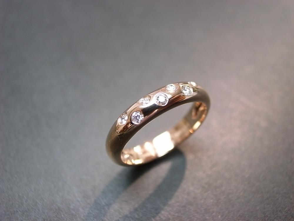 14K Rose Gold Diamond Wedding Ring