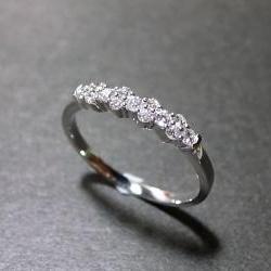 Diamond Wedding Ring in 14K White Gold