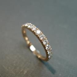 0.54ct Diamond Wedding Ring in 14K Rose Gold
