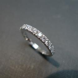 Anniversary Diamond Wedding Ring in 14K White Gold