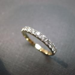 Wedding Anniversary Diamond Band Bridal Ring in 14K Yellow Gold