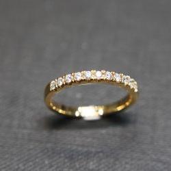 Wedding Diamond Ring in 18K Yellow Gold