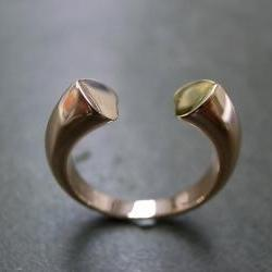 Heart Shape Ring in 14K White Gold