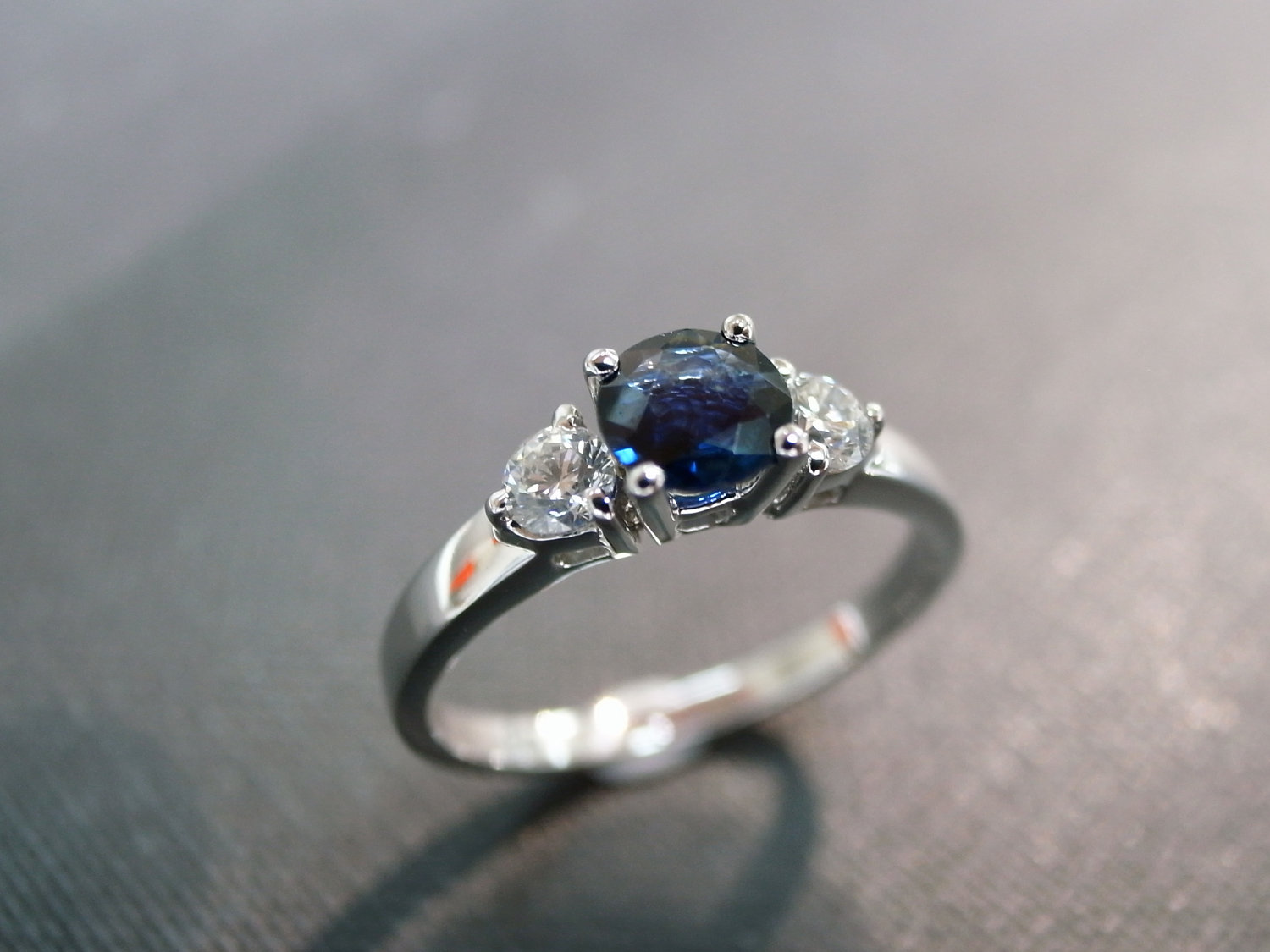 round rings half by created sapphire ring engagement bezel nodeform blue lab solitaire products
